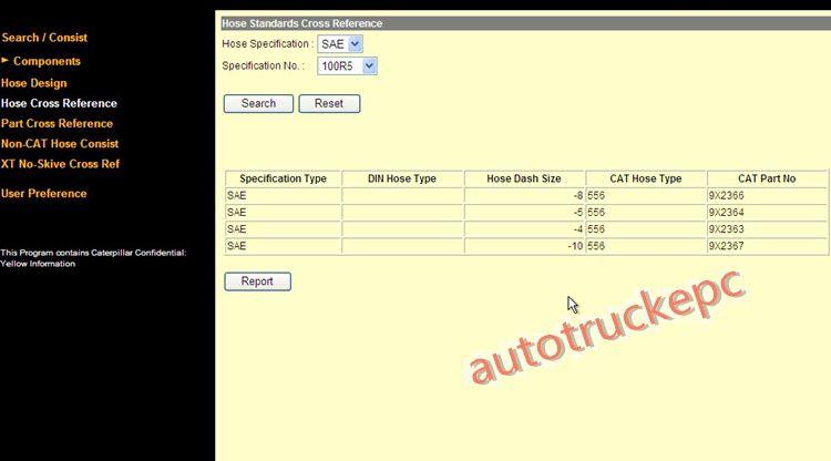 Caterpillar cat Hose & Coupling information system ( HCIS 2011