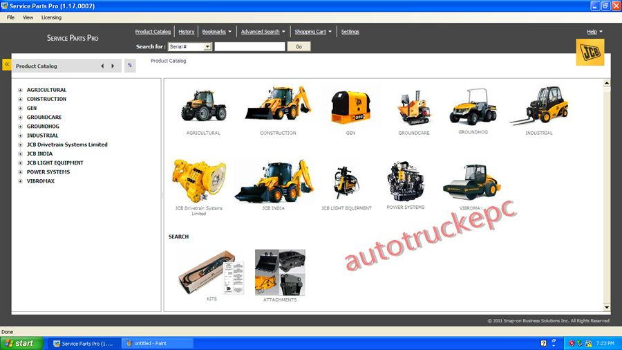 JCB SPP Parts Catalog 1 13-1 18 Keygen unlock Forklift